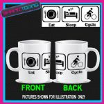 EAT SLEEP CYCLE CYCLING BIKE RACING MUG